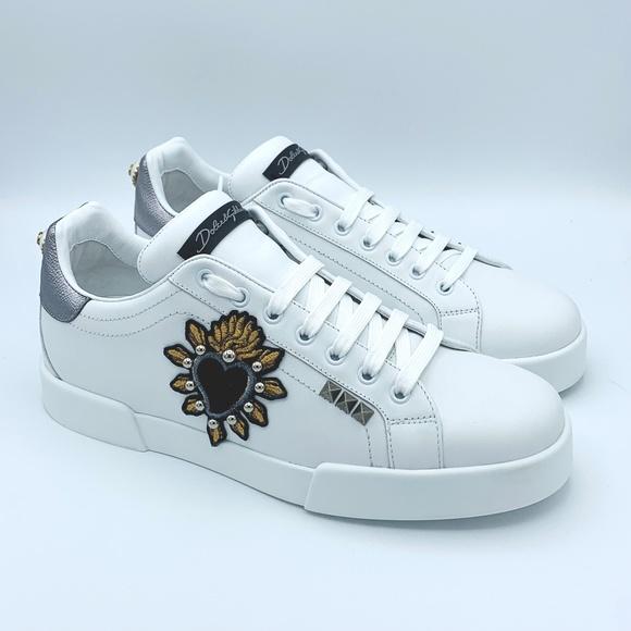 Dolce & Gabbana Other - NIB DOLCE & GABBANA Men's Leather Heart Sneakers